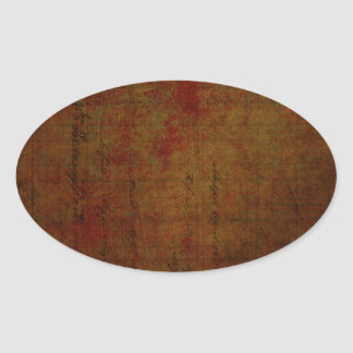 Dark Grungy Painting Background Oval Sticker