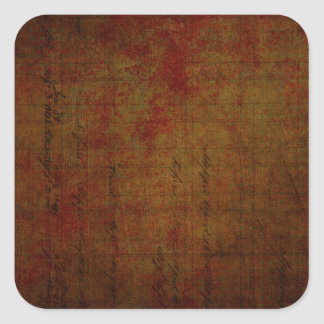 Dark Grungy Painting Background Square Sticker