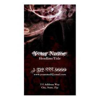 Dark Grungy Tech Burst Fractals Business Card
