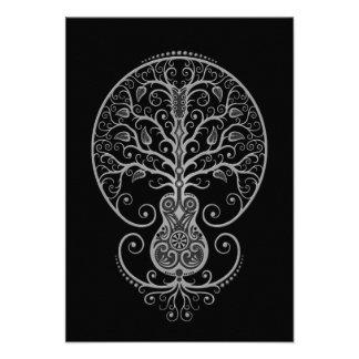 Dark Guitar Tree of Life Custom Invitation