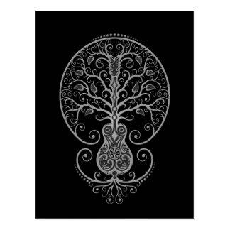 Dark Guitar Tree of Life Postcard