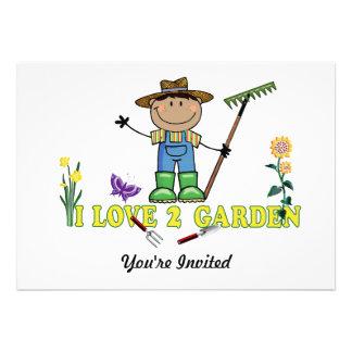 Dark Guy Farmer I Love 2 Garden Invite