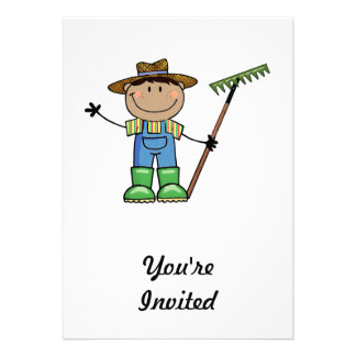 Dark Guy Farmer Custom Invites