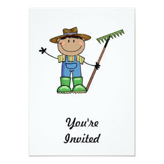 Dark Guy Farmer 5x7 Paper Invitation Card
