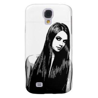 Dark Haired Beauty 1 Galaxy S4 Case