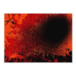 Dark halftone 13 cm x 18 cm invitation card