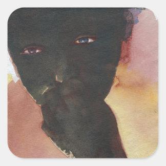 Dark Hand Square Sticker