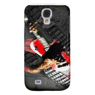 Dark hands guitar layered red image galaxy s4 case