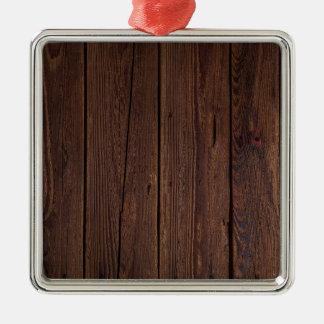 Dark hardwood imitation christmas ornament