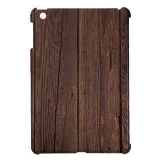 Dark hardwood imitation iPad mini case