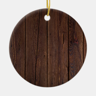 Dark hardwood imitation round ceramic decoration