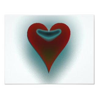 Dark Heart 11 Cm X 14 Cm Invitation Card