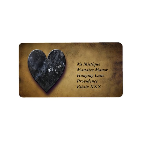 Dark Heart Address Label