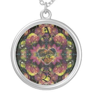 Dark Heart Floral Pendant