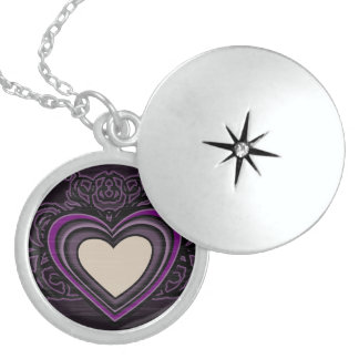Dark Heart Locket Necklace