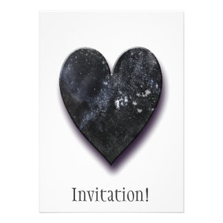 Dark Heart Personalized Announcements