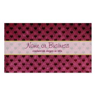Dark Hearts Grunge Pattern Business Cards
