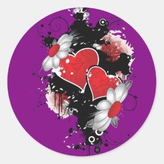 Dark Hearts Round Sticker