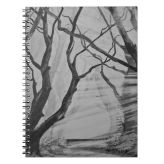 Dark Hedges, Stranocum. Irish Art Notebook