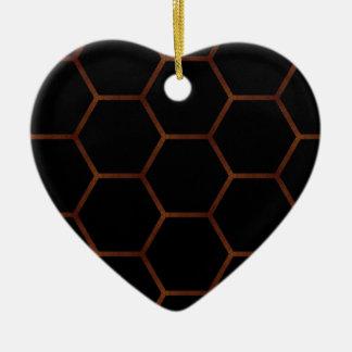Dark hexagon christmas ornament