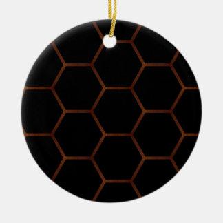 Dark hexagon round ceramic decoration