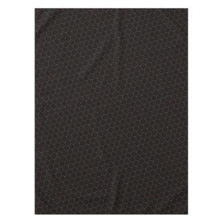 Dark hexagon tablecloth