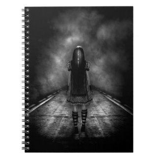 Dark Highway Spiral Notebook