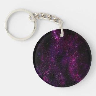 Dark Hipster Galaxy Universe Acrylic Key Chain