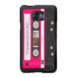 Dark Hot Pink Retro Cassette Tape Personalised