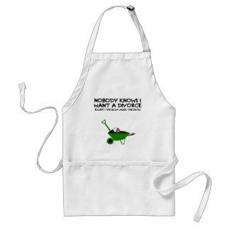 Dark humour divorce standard apron