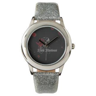 Dark Illusions Glitter Band Watch (silver)