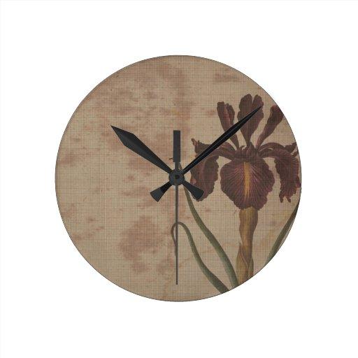 dark iris with grungy background wall clocks