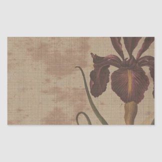 dark iris with grungy background rectangular sticker