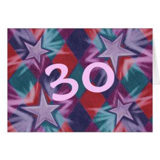 Dark Jester  '30' Happy Birthday greetings card