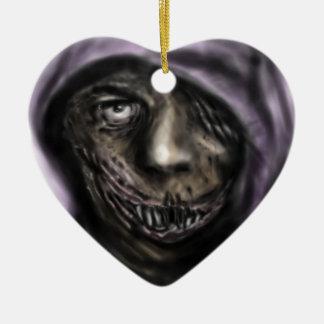 Dark Joker Ceramic Heart Decoration