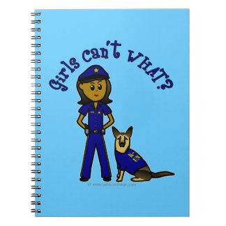 Dark K-9 Police Officer Notebook
