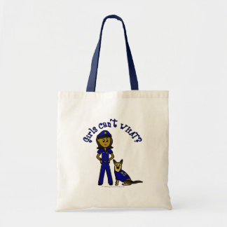 Dark K-9 Police Officer Tote Bag