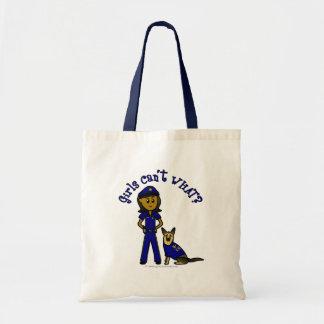 Dark K-9 Police Officer Tote Bag