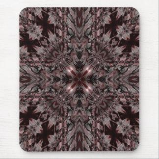 Dark kaleidoscope design mouse mat