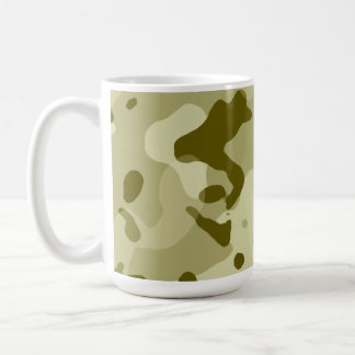Dark Khaki Camo; Camouflage Classic White Coffee Mug