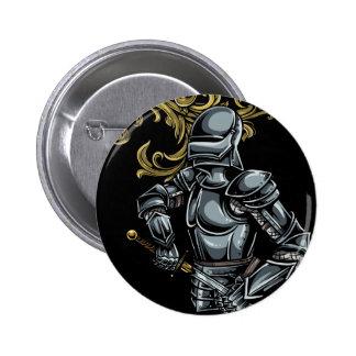 Dark Knight Armour 6 Cm Round Badge