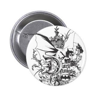 Dark Knight Logo Detailed Pin