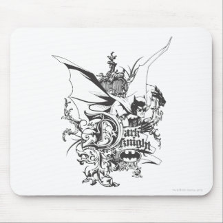 Dark Knight Logo Detailed Mouse Pad