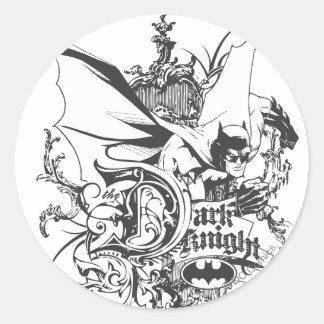 Dark Knight Logo Detailed Round Sticker