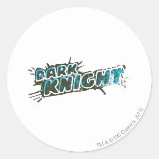 Dark Knight Logo Round Sticker