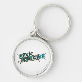Dark Knight Logo Silver-Colored Round Key Ring