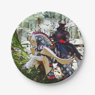 Dark Knight on Pegasus Party Plates 7 Inch Paper Plate