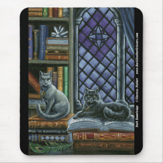 Dark Knowledge Library Cats Mousepad