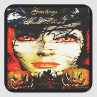 Dark Lady of Halloween Square Sticker