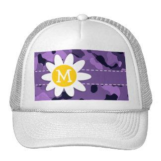 Dark Lavender Camo; Daisy Trucker Hat